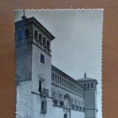 Postales: POSTAL ALCAÑIZ CASTILLO DE LOS CALATRAVOS FACHADA PRINCIPAL EDICIONES SICILIA. Lote 177392255