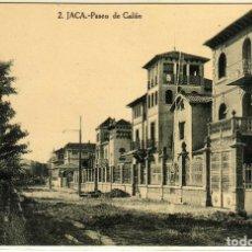 Postales: POSTAL JACA (HUESCA) - PASEO DE GALAN . Lote 177618053