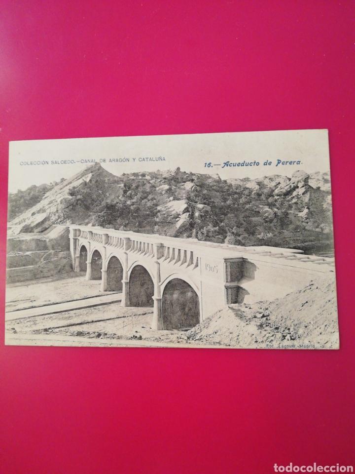 POSTAL COLECCION SALCEDO 16 CANAL DE ARAGON Y CATALUÑA (Postales - España - Aragón Antigua (hasta 1939))