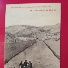 Postales: POSTAL COLECCION SALCEDO 28 CANAL DE ARAGON Y CATALUÑA. Lote 177986698