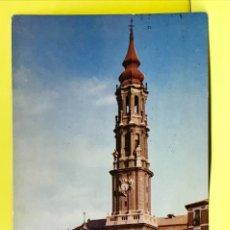 Postales: ZARAGOZA ANTIGUA POSTAL COLOREADA 11 CATEDRAL DE LA SEO POSTALES P ESPERON . Lote 178085814