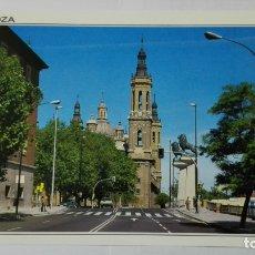 Postales: POSTAL ZARAGOZA, PASEO DE ECHEGARAY Y CABALLERO, CON LA BASILICA DEL PILAR. Lote 178129348