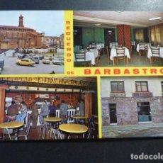 Postales: BARBASTRO HUESCA RESTAURANTE MATILDE. Lote 178379402