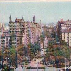 Postales: POSTAL ZARAGOZA - PLAZA DE ARAGON Y PASEO DE LA INDEPENDENCIA - 6 ESPERON. Lote 178980583