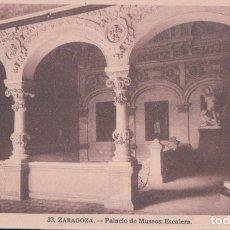 Postales: POSTAL DE ZARAGOZA - PALACIO DE MUSEOS, ESCALERA. 33 ARRIBAS. Lote 179039092