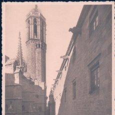 Postales: POSTAL ARCHIVO DE LA CORONA DE ARAGON 2 - FACHADA PRINCIPAL Y LA CATEDRAL - ZERKOWITZ. Lote 179946531