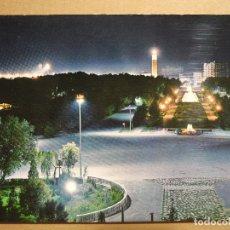 Postales: ZARAGOZA. PARQUE PRIMO DE RIVERA. ASPECTO NOCTURNO. GARCIA GARRABELLA 62 ESCRITA 1965. Lote 180038200