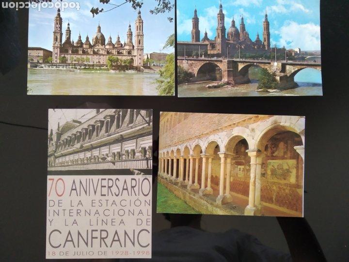 LOTE POSTALES DE ARAGÓN. ALQUEZAR, ZARAGOZA Y CANFRANC (Postales - España - Aragón Moderna (desde 1.940))