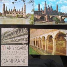 Postales: LOTE POSTALES DE ARAGÓN. ALQUEZAR, ZARAGOZA Y CANFRANC. Lote 180178615