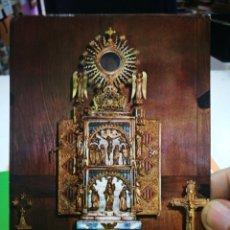 Postales: POSTAL DAROCA CUSTODIA DE LOS SAGRADOS CORPORALES SIGLO XIV ESCRITA. Lote 180237233