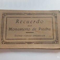 Postales: CUADERNILLO DE POSTALES RECUERDO MONASTERIO DE PIEDRA ANTIGUAS . Lote 180864211