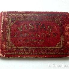 Postales: VISTAS DE ZARAGOZA. ÁLBUM DE 18 VISTAS DEL FOTÓGRAFO COYNE. EN ACORDEÓN (SIGLO XIX). Lote 181591688