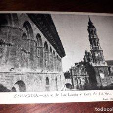 Postales: Nº 32495 POSTAL ZARAGOZA ALERO DE LA LONJA Y TORRE DE LA SEO. Lote 182110403