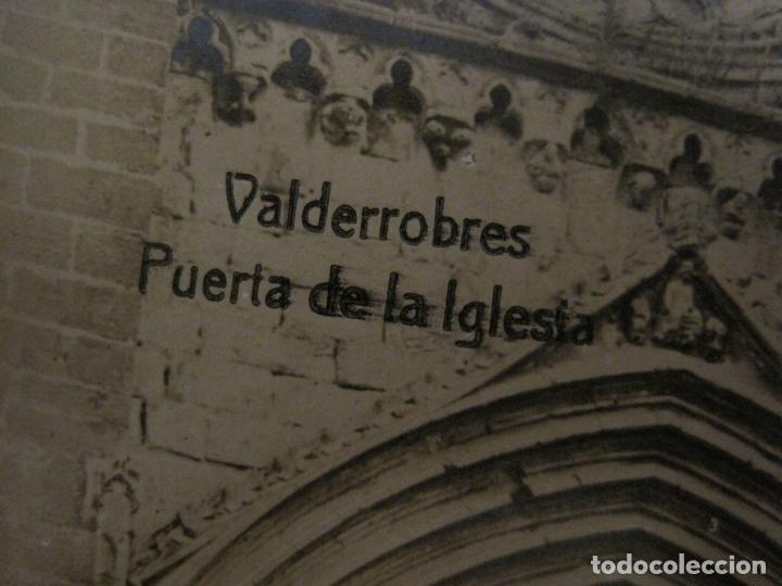 Postales: VALDERROBRES-PUERTA DE LA IGLESIA-POSTAL FOTOGRAFICA JOSE FLAMERICH-VER FOTOS-(63.803) - Foto 2 - 182307445