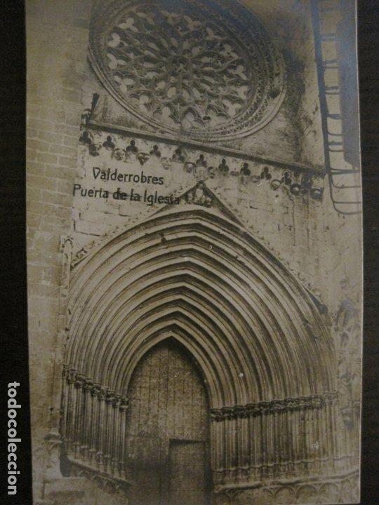 Postales: VALDERROBRES-PUERTA DE LA IGLESIA-POSTAL FOTOGRAFICA JOSE FLAMERICH-VER FOTOS-(63.803) - Foto 3 - 182307445
