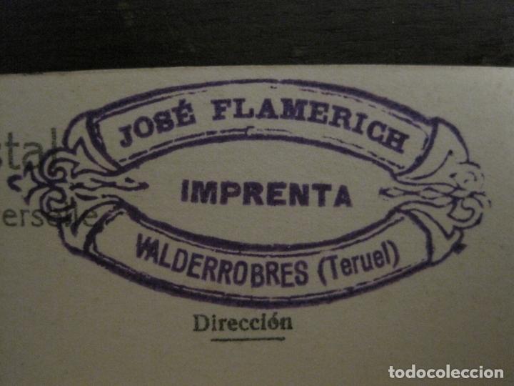 Postales: VALDERROBRES-PUERTA DE LA IGLESIA-POSTAL FOTOGRAFICA JOSE FLAMERICH-VER FOTOS-(63.803) - Foto 5 - 182307445