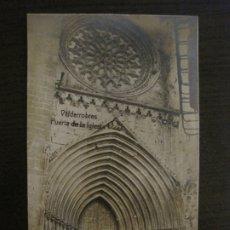 Postales: VALDERROBRES-PUERTA DE LA IGLESIA-POSTAL FOTOGRAFICA JOSE FLAMERICH-VER FOTOS-(63.803). Lote 182307445