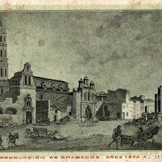 Postales: ZARAGOZA, CENTENARIO DE LOS SITIOS 1908, RUINAS DE ZARAGOZA, VISTA DE LA CALLE DEL COSO. Lote 182395536