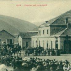 Postales: HUESCA JACA ESTACIÓN DEL FERROCARRIL. HACIA 1920.. Lote 182889183
