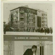 Postales: EL DUENDE DE ZARAGOZA. LA CASA. FOTOGRÁFICA. CIRCULADA EN 1934. PIEZA EXCEPCIONAL.. Lote 182890220