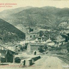 Postales: HUESCA ALTO ARAGÓN PINTORESCO. VISTA GENERAL BROTO. FIRMADA POR LUCIEN BRIET, EDITOR DE LA POSTAL.. Lote 182893833