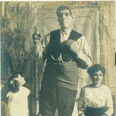 Postales: FERMÍN ARRUDI. EL GIGANTE DE SALLENT. VIAJE A CUBA 1911. POSTAL Y DÍPTICO. CONJUNTO EXCEPCIONAL.. Lote 182896605