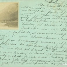 Postales: PIRINEOS. BENASQUE-LUCHON. POSTAL FRANCESA CIRCULADA EN 1899.. Lote 182897042