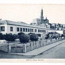 Postales: ZARAGOZA ATECA GRUPO ESCOLAR. SIN CIRCULAR. Lote 182898118