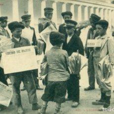 Postales: BENASQUE LUCHON. LOS PERIÓDICOS DE PARÍS. POSTAL FRANCESA. CIRCULADA EN 1905. MUY RARA.. Lote 182898252