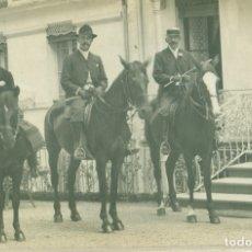 Postales: BENASQUE LUCHON. GUÍAS Y EXCURSIONISTAS A CABALLO .POSTAL FRANCESA. CIRCULADA EN LUCHON EN 1907.. Lote 182899015