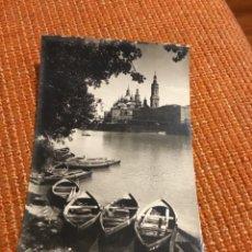 Postales: ANTIGUA POSTAL FOTOGRÁFICA ZARAGOZA TEMPLO DEL PILAR RIVERA DEL RÍO EBRO . Lote 183023377