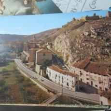 Postales: POSTAL 291, ALBARRACÍN (TERUEL), VISTA PANORÁMICA Y CASTILLO AL FONDO (MONUMENTO NACIONAL). P-291. Lote 183090347