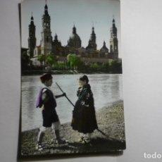 Postales: POSTAL ZARAGOZA TRAJES REGIONALES.-COLOREADA ESCRITA CM. Lote 183344367