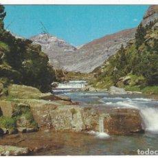 Postales: 420- PARQUE NACIONAL DE ORDESA.- GRADAS DE SOASO, AL FONDO PICO SUN DE RAMON. Lote 184008608