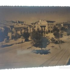 Postales: AYERBE HUESCA ANTIGUO CLICHE NEGATIVO EN CRISTAL Y PRIMERA POSTAL. Lote 184407157