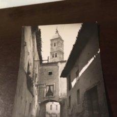Postales: ANTIGUA POSTAL FOTOGRÁFICA TARAZONA CALLE DEL CONDE. Lote 184573592