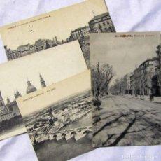 Postales: 4 TARJETAS POSTALES DE ZARAGOZA PRINCIPIOS SIGLO XX. Lote 185988575