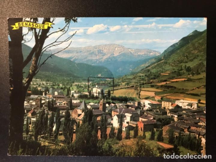 POSTAL HUESCA ALTO ARAGON VISTA GENERAL BENASQUE FOTO PEÑARROYA JACA SIN ESCRIBIR NI CIRCULAR (Postales - España - Aragón Moderna (desde 1.940))
