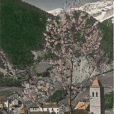 Postales: X122787 RARO ARAGON HUESCA SOBRARBE BIELSA VISTA PARCIAL ENTRE FLOTES Y NIEVE. Lote 188660741