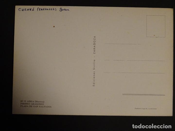 Postales: Ainsa (Huesca) Plaza de San Salvador, postal sin circular - Foto 2 - 188752817