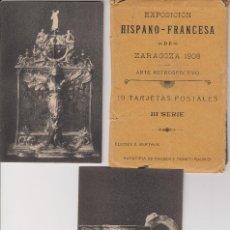 Postales: ZARAGOZA.EXPOSICION HISPANO FRANCESA. 1908. Lote 188755392