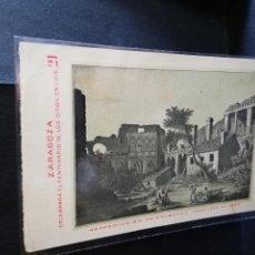 Postales: TARJETA POSTAL DE ZARAGOZA. CELEBRA EL CENTENARIO DE LOS SITIOS EN 1908. RUINAS DE ZARAGOZA.. Lote 189295325