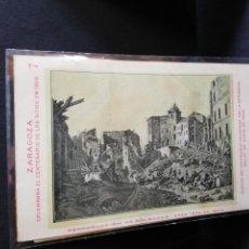 Postales: TARJETA POSTAL DE ZARAGOZA. CELEBRA EL CENTENARIO DE LOS SITIOS EN 1908. RUINAS DEL SEMINARIO.. Lote 189295436