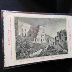 Postales: TARJETA POSTAL DE ZARAGOZA. CELEBRA EL CENTENARIO DE LOS SITIOS EN 1908. RUINAS DEL SEMINARIO.. Lote 189295720