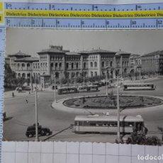 Cartes Postales: POSTAL DE ZARAGOZA. AÑOS 30 50. PLAZA DE PARAISO Y FACULTAD DE MEDICINA TRANVÍAS. 922 . 1775. Lote 189812111