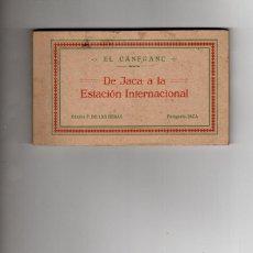 Postales: EL CANFRANC. DE JACA A LA ESTACIÓN INTERNACIONAL. ALBUM DE 18 POSTALES. COMPLETO. Lote 190468933