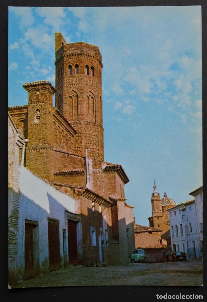 ALAGÓN (ZARAGOZA) TORRE MUDEJAR Y VISTA PARCIAL, POSTAL CIRCULADA DEL AÑO 1970 (Postales - España - Aragón Moderna (desde 1.940))