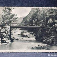 Postales: POSTAL 32 VALLE DE ORDESA PUENTE Y MONUMENTO A BRIET ED ARRIBAS INSCRITA NO CIRCULADA. Lote 193983091