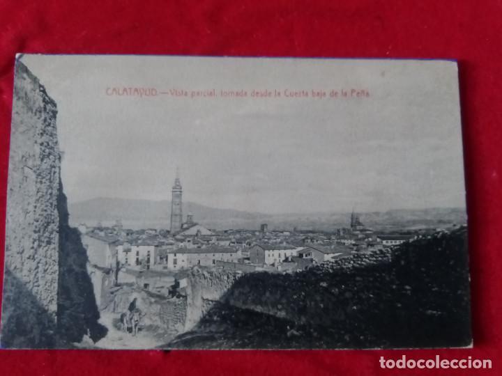 W.- 8.- POSTAL DE -- CALATAYUD -- VISTA PARCIAL, TOMADA DESDE LA CUESTA BAJA DE LA PEÑA , SIN CIRCUL (Postales - España - Aragón Antigua (hasta 1939))