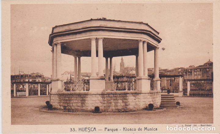 HUESCA - PARQUE - KIOSKO DE MUSICA (Postales - España - Aragón Antigua (hasta 1939))